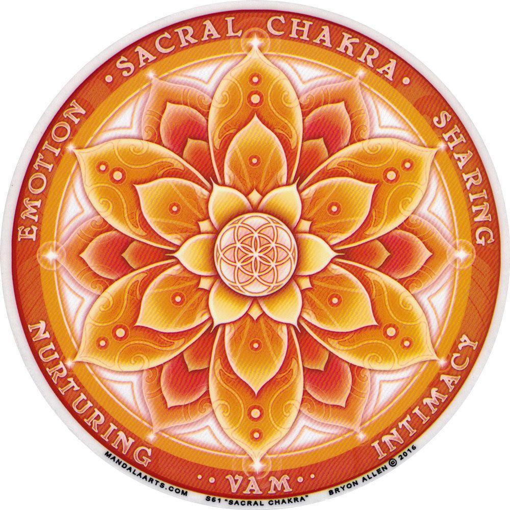 Self Healing Yoga 11.7cm Mandala Arts Window Sticker Single Sided