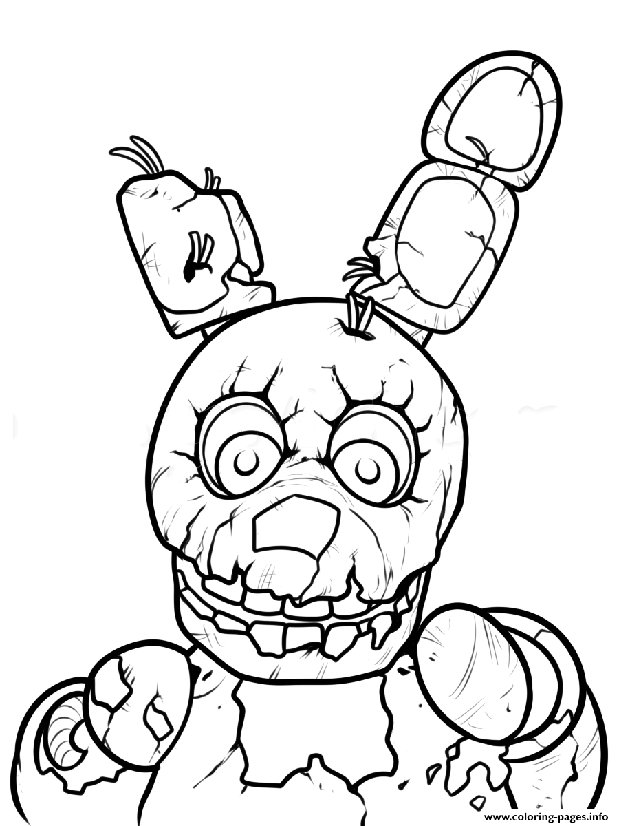 Five Nights At Freddy S 4 Coloring Pages Nightmare Cinebrique