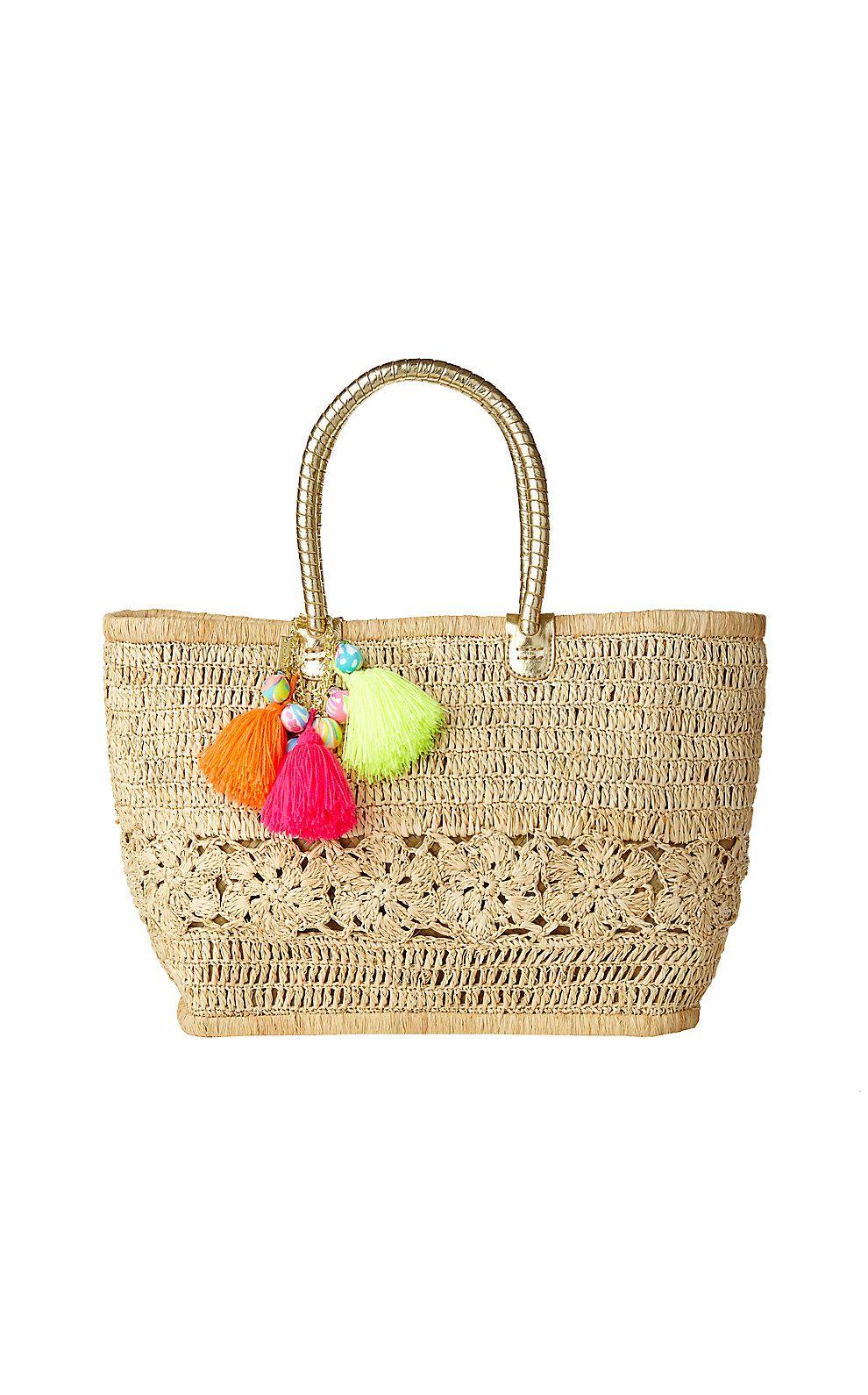 Riviera Straw Tote Bag