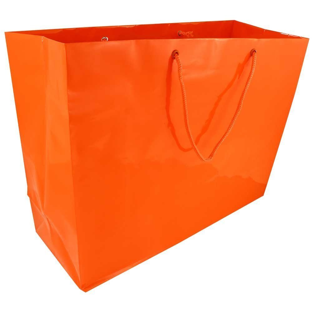 Jam Paper Horizontal Glossy Gift Bag X Large 16 X 6 X 12 In Orange Bags Sold Individually You Can Get More Jam Paper Blank Gift Tags Gift Bags