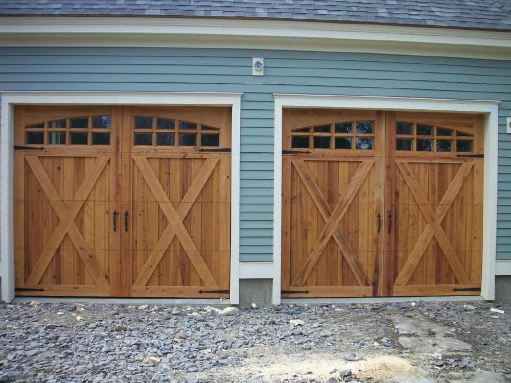 9x8 Cypress Sectional O H Carriage House Garage Door In Home Garden Home Improvement Building Hardwa Carriage House Garage Doors Garage Doors Curb Appeal