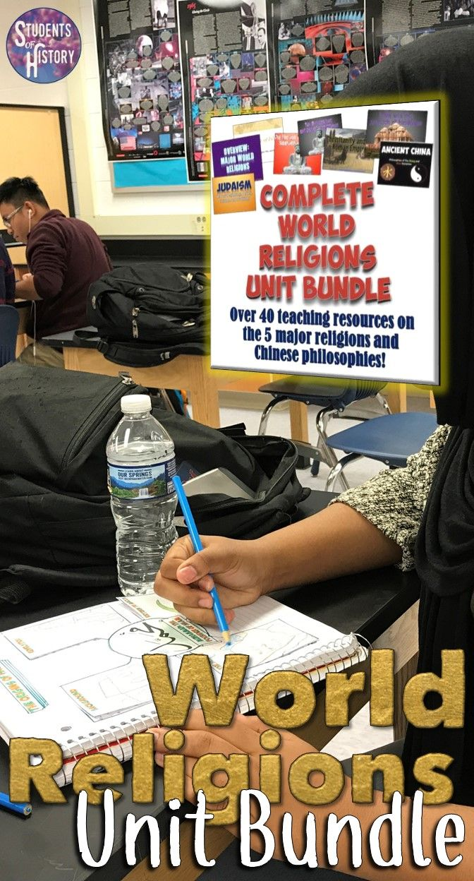 World religions lessons bundle! Close to 60 awesome activities for teaching about world religions!