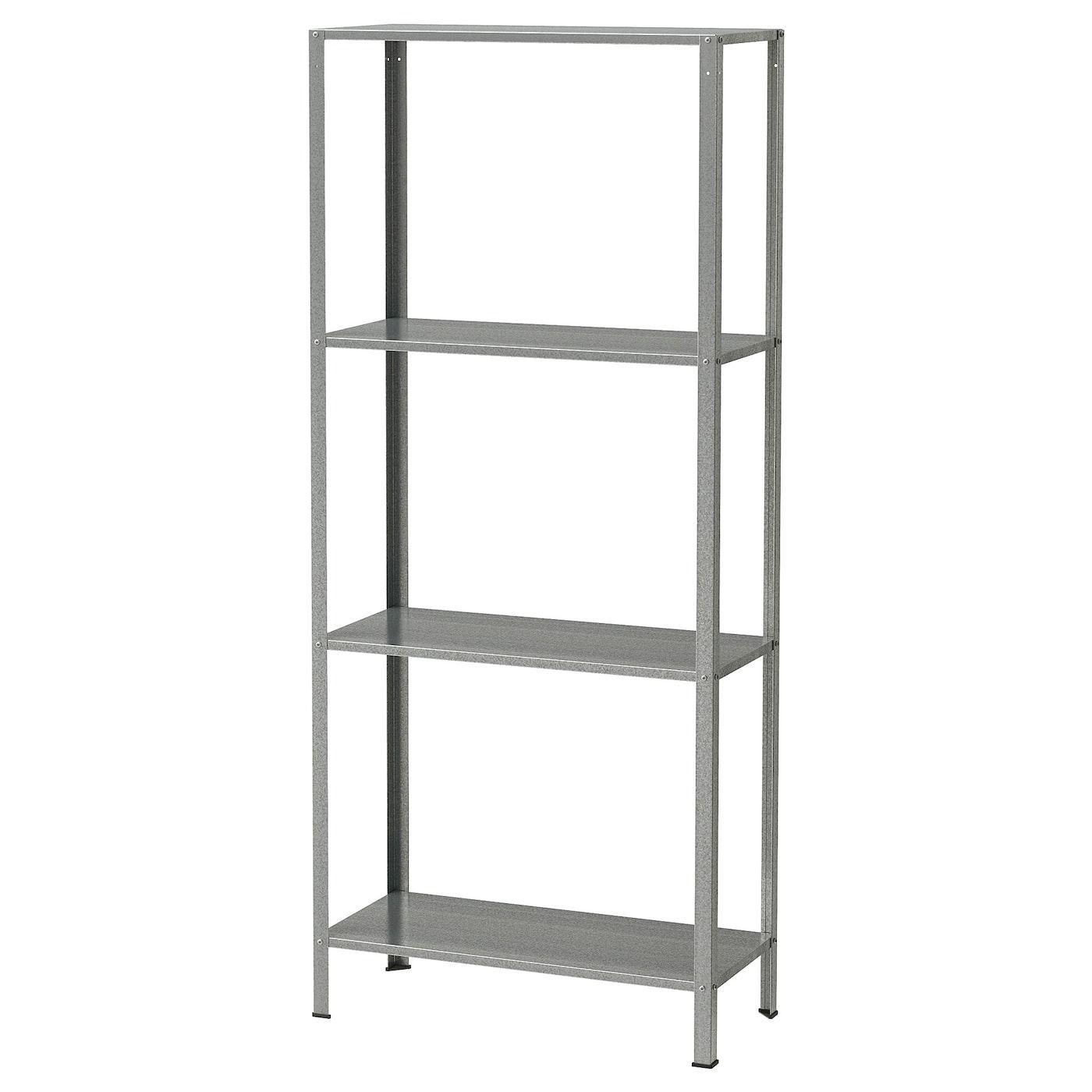 Armadio Metallico Esterno Ikea hyllis scaffale - da interno/esterno zincato 60x27x140 cm