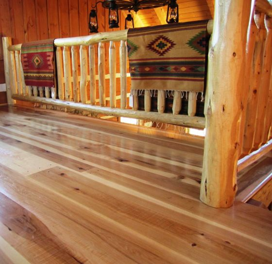 Skip Planed Rustic Hickory Wood Floors Sawmill Direct With Images Hickory Wood Floors