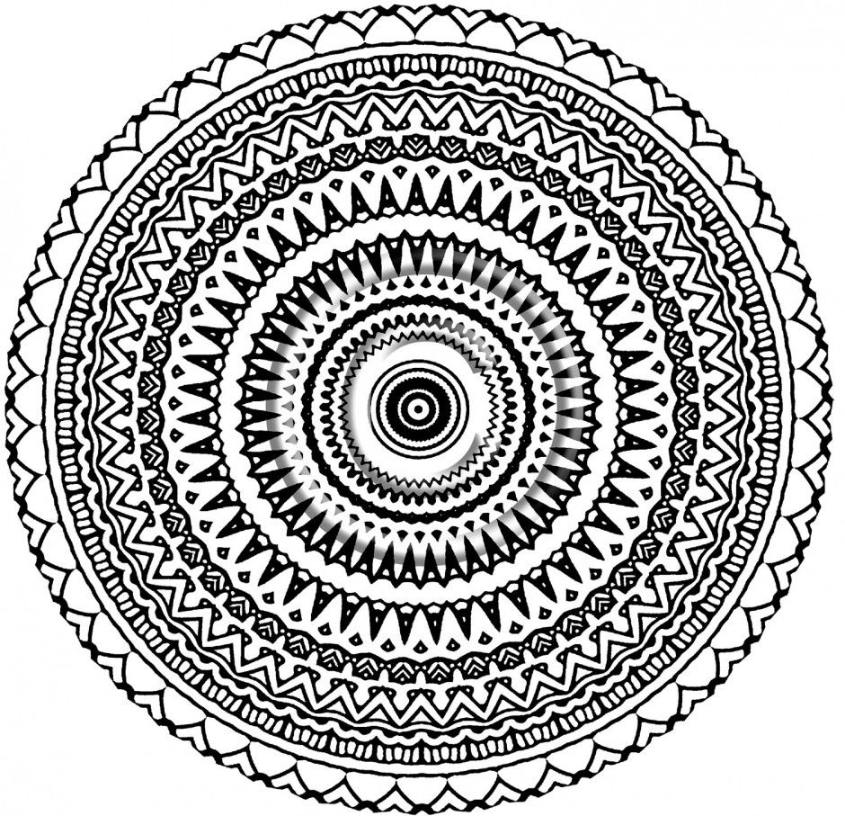 Aztec Mandala Coloring Pages
