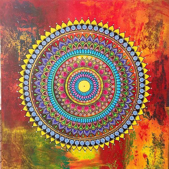 mandala auf leinwand with images  mandala canvas