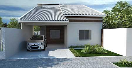 Fachadas de casas pequenas simples modernas fotos - Imagenes de chimeneas modernas ...