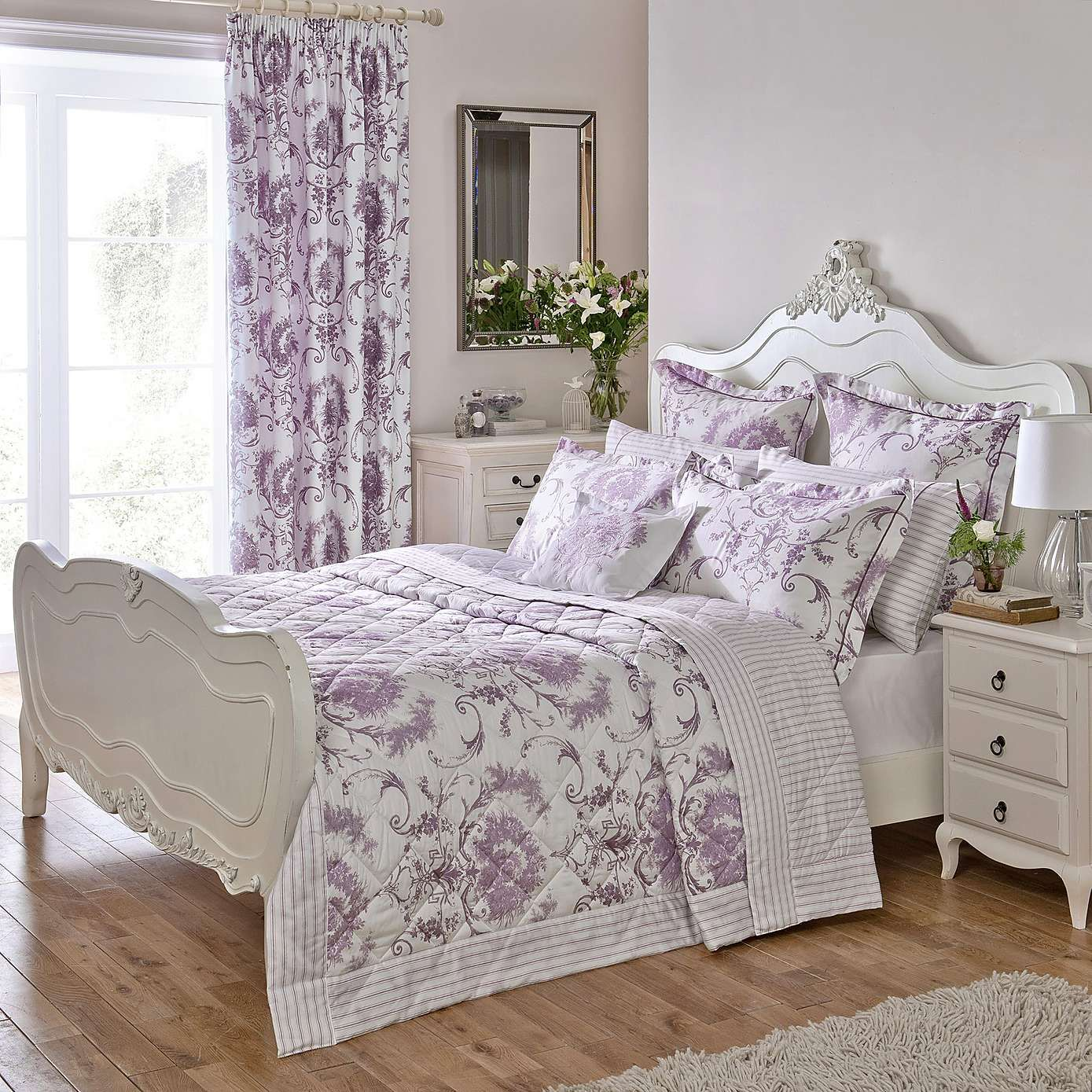 Lilac Bedroom Decor Dorma Heather Toile Bed Linen Collection Dunelm New Decorating
