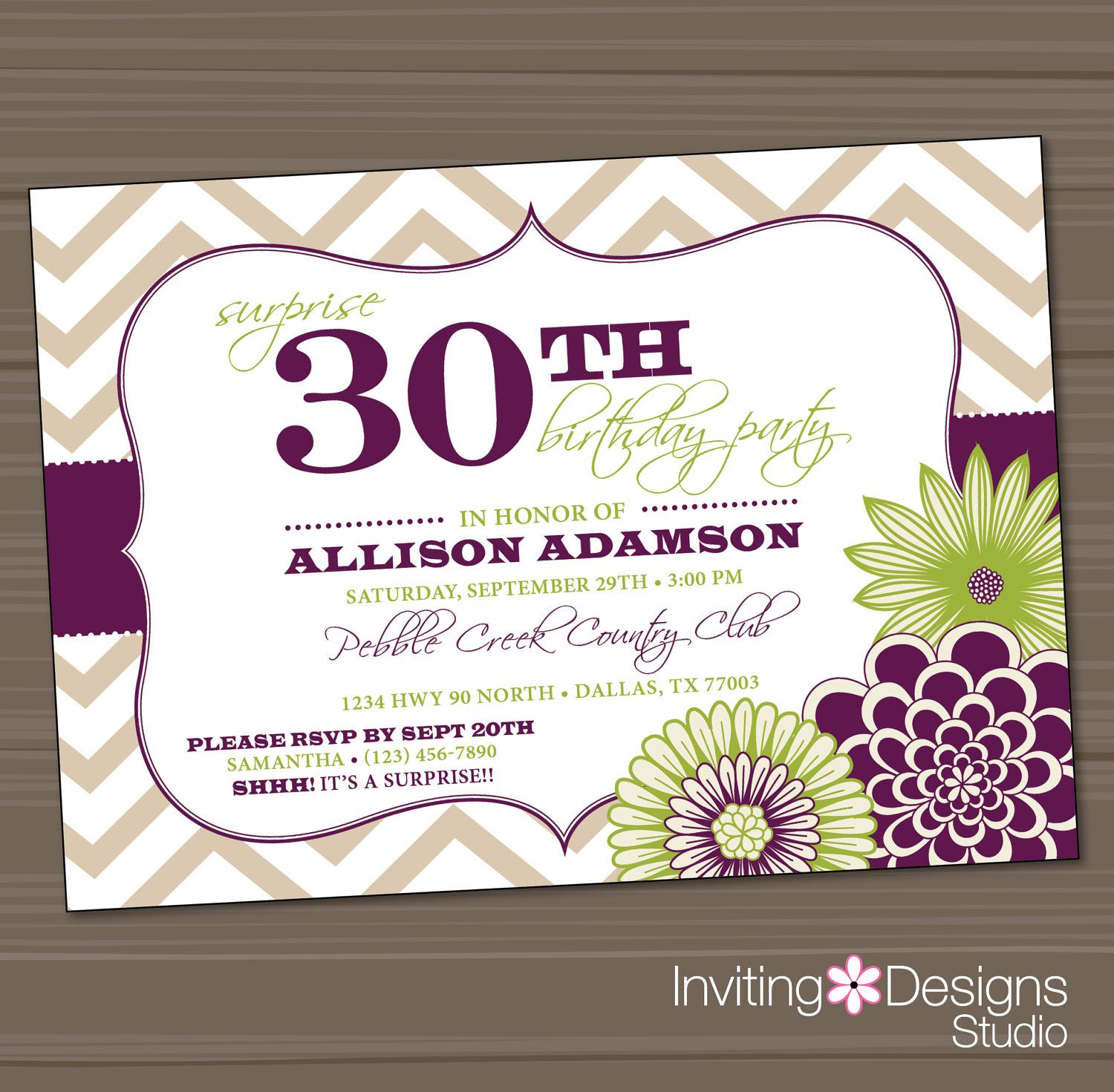 surprise birthday invitations templates for adults - Google Search ...