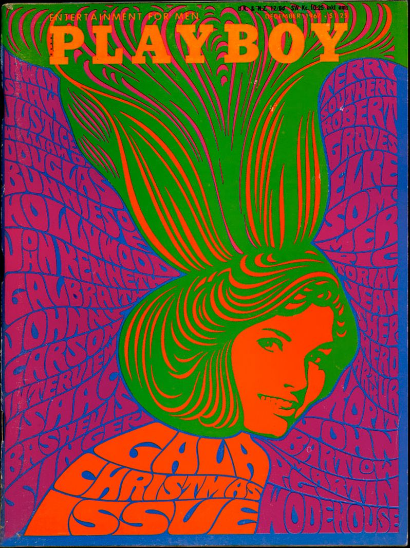 playboy december 1967 � illustration by wes wilson the