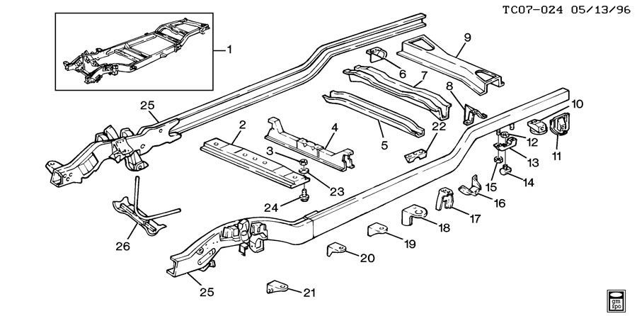 1996 Chevy K1500 Frame Parts