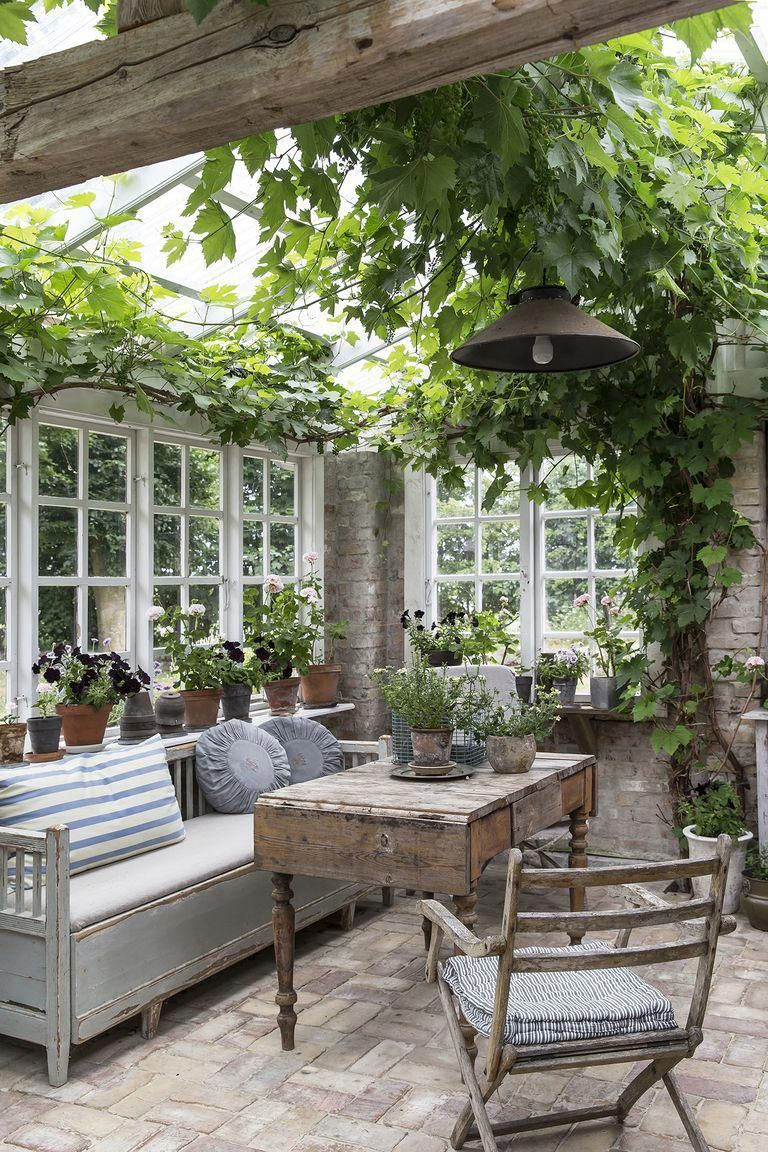17 conservatories and garden rooms ideas – Garden shed renovation ideas #gardens…