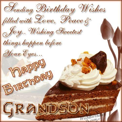 Happy Birthday My Dear Grandson Birthdays Happy