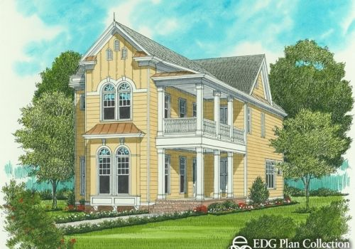 2224 Sq Ft Victorian House Plans Narrow Lot House Plans Narrow Lot House