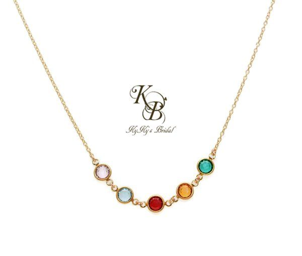 Solid 14k Gold Necklace Gold Birthstone Necklace Solid Gold Necklace Fine Jewelry Mothers Jewelry Mom Gifts Gold Birthstone Necklace Mother Jewelry Grandmother Jewelry Birthstones Grandmother Jewelry