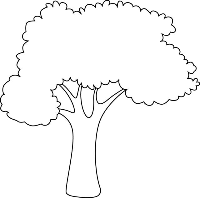 Un arbre à colorier | Desenler, Aplike, Nakış