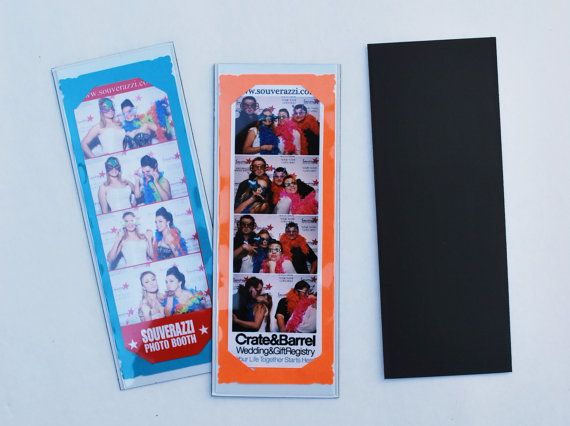 Photo Booth Picture Frame for 3 photo booth strips black frame white mat 8x10