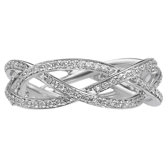 Braided Diamond Ring Band I Just Need To See This