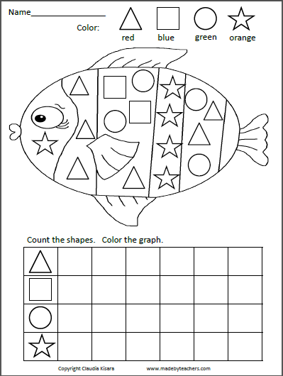 shapes graphing activity fish kids work kindergarten math activities kindergarten math. Black Bedroom Furniture Sets. Home Design Ideas