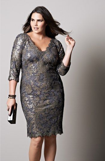 Tadashi Shoji Sequin Lace Sheath Dress Plus Size Nordstrom