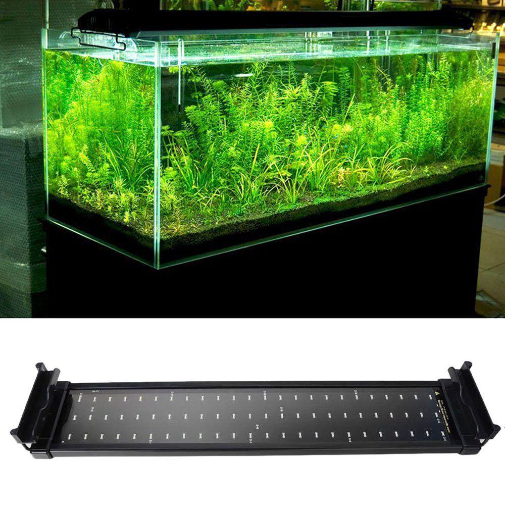 Aquarium Fish Tank Smd Led Lumiere Lampe 11 W 2 Mode 50 Cm 60 Blanc