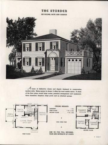 Select homes of moderate cost. | Houses | Pinterest | Vintage house ...