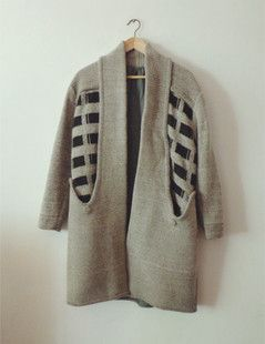 降温促销*古着vintage american apparel风 茧形大衣 羊毛 包邮