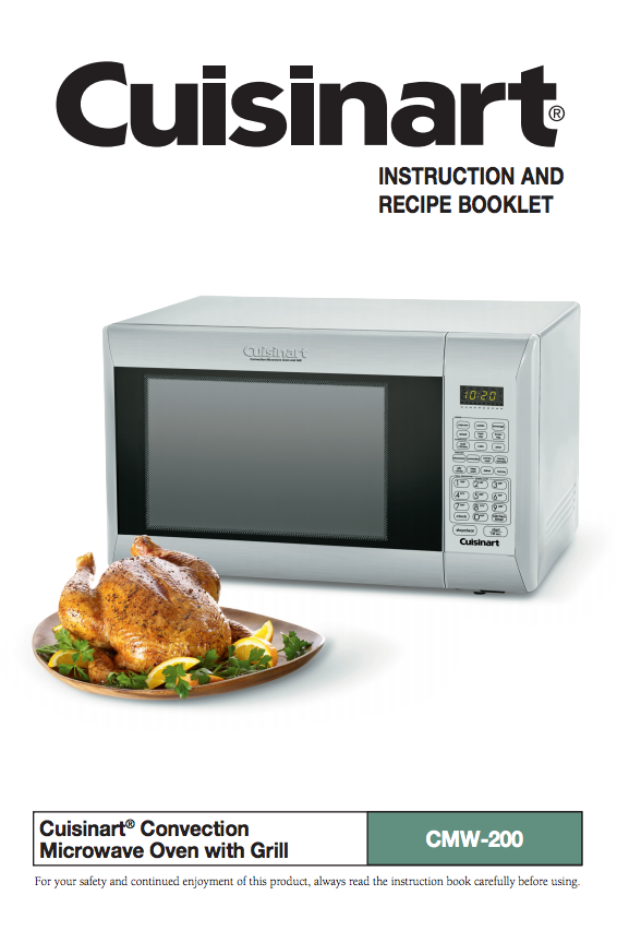 convection microwave oven with grill cmw 200 product manual rh pinterest com cuisinart cmw-100 manual Cuisinart Microwave Will Not Work