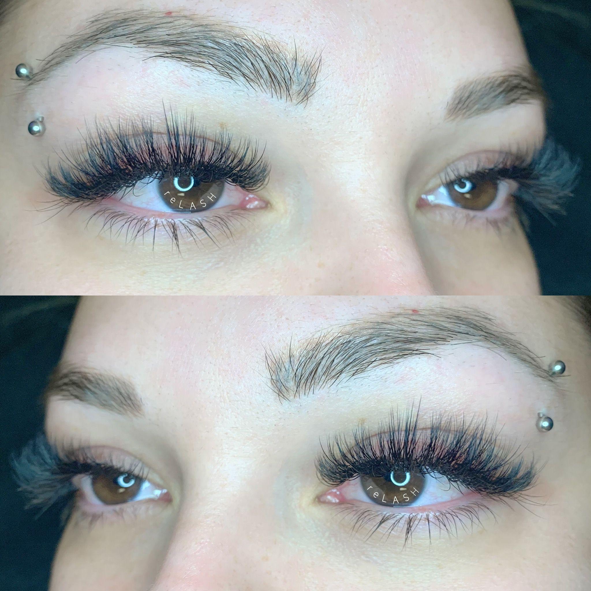 Wispy volume eyelash extensions Eyelash extensions