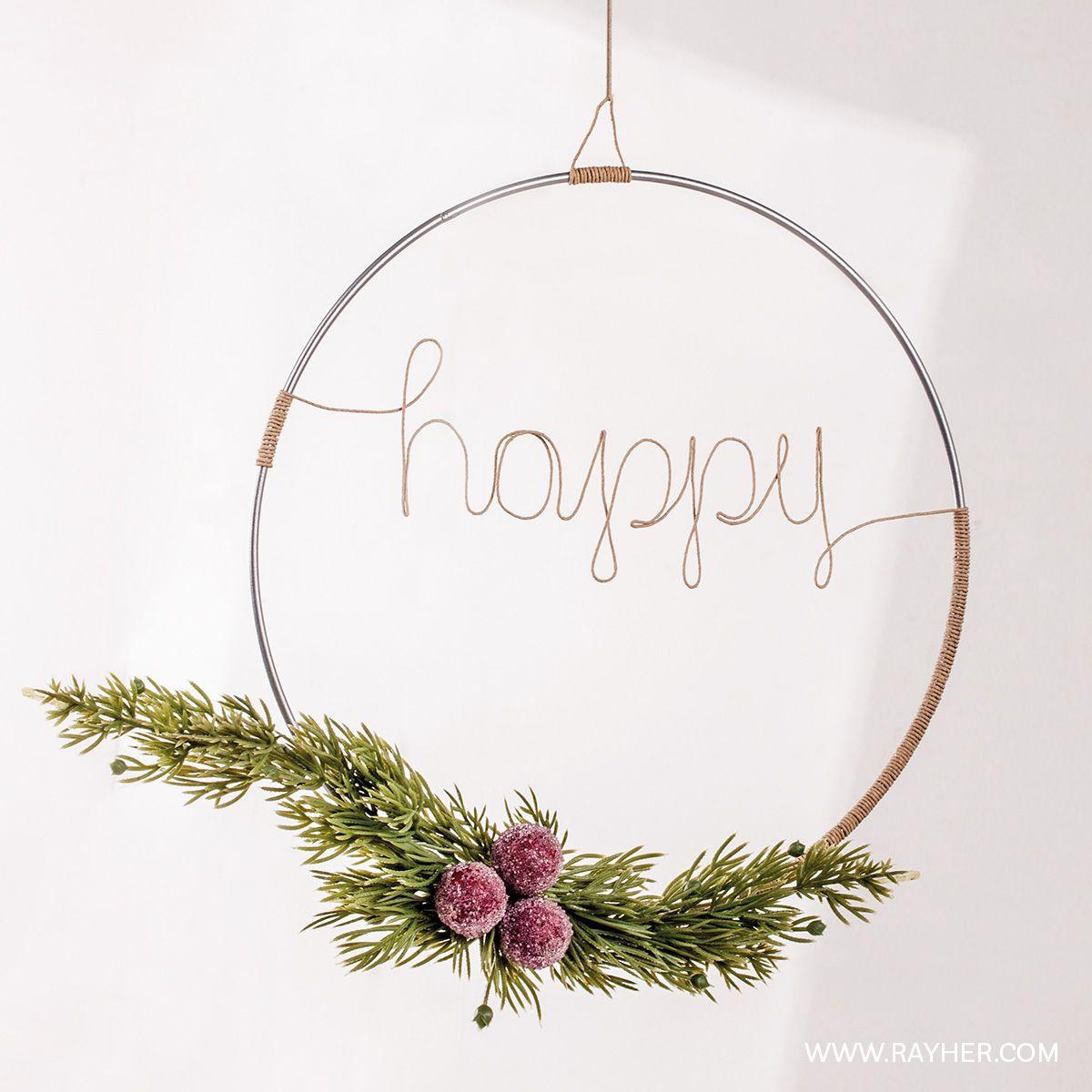 Photo of Scandinavian beautiful – Christmas DIY wreath. #rayher #crafts #diy …