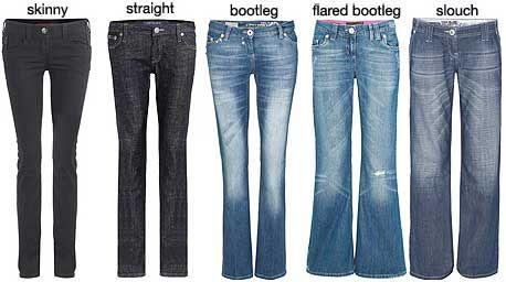 Bootcut, straight leg, skinny or flared