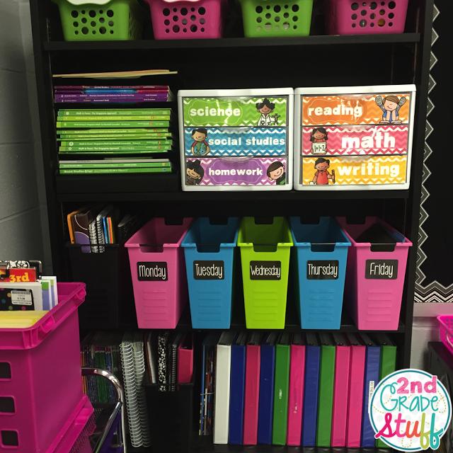 Classroom Organizing Ideas: 2nd Grade Stuff: 2015-2016 Classroom Reveal