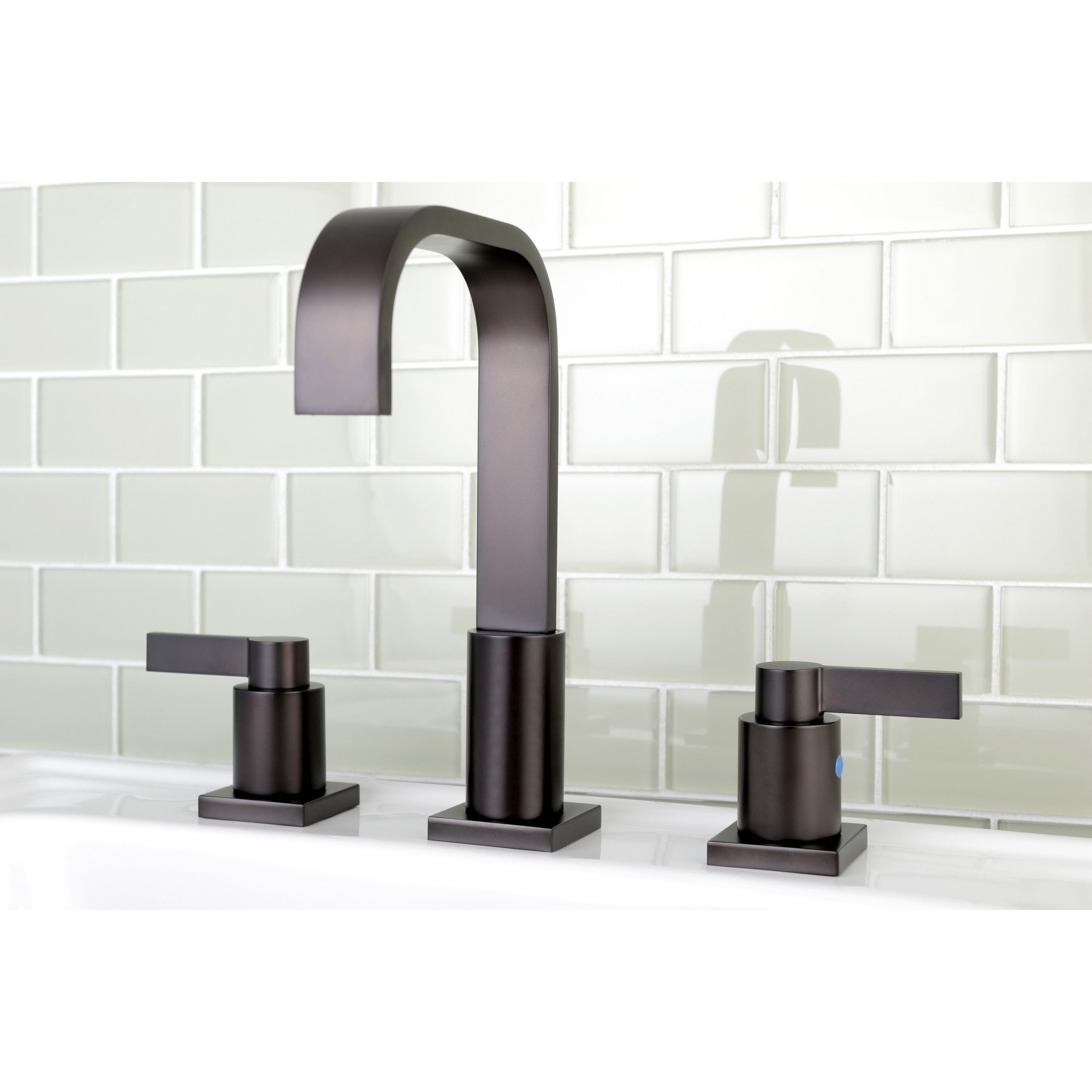 Kingston Brass High Arch Oil Rubbed Bronze Widespread Bathroom ...