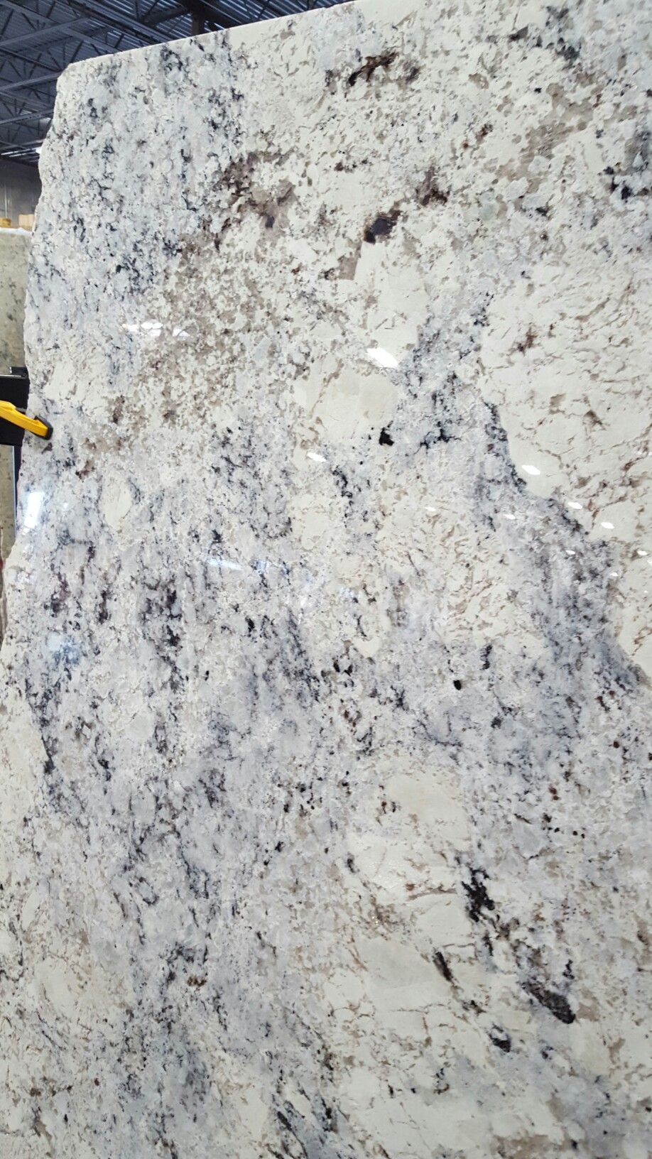 Our Slab White Ice Granite Countertops In 2019 White Granite Kitchen White Ice Granite