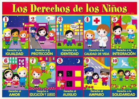 Los Derechos Del Nino Laminas English Activities Activities Letter Sounds