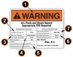 Arc Flash Hazard Labels And Boundary Chart Creation Using Category Table For