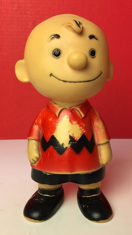 Vintage 1958 Charlie Brown Resin Cast Dol Figurine Charlie Brown Charlie Brown Christmas Resin Casting
