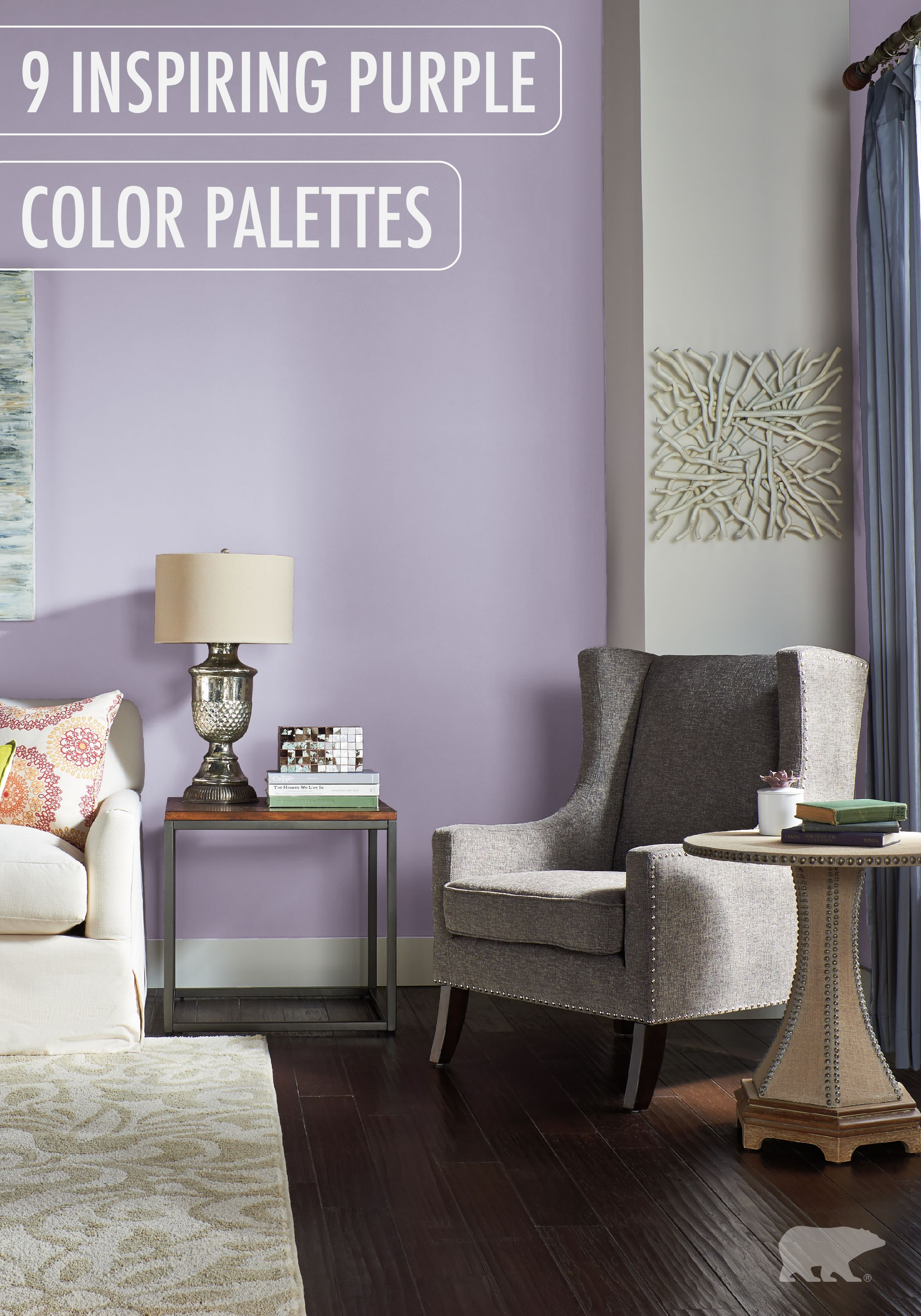Purple Painted Room Design Inspiration And Project Idea Gallery