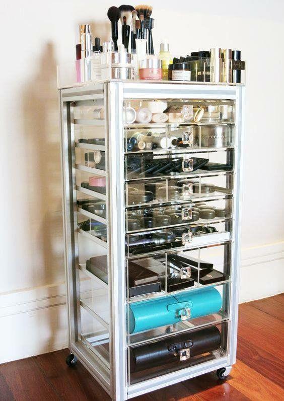 Organizing · Make Up StorageStorage IdeasMakeup OrganizationHair Product ...