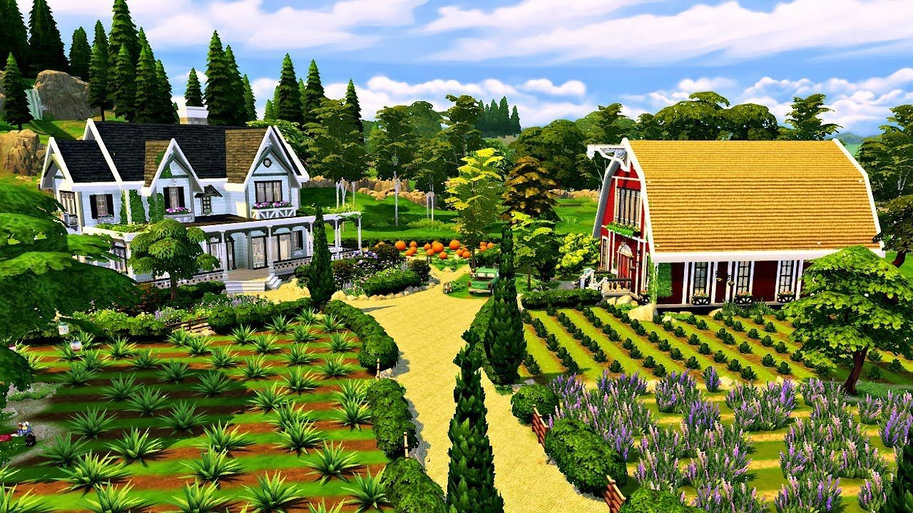 The Sims 4 - PARENTHOOD FARM   Speed Build