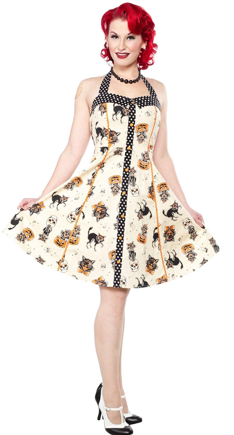 cfe15c4b8e Sourpuss Peggy Dress in Black Cats