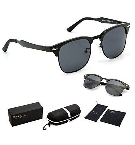 clubmaster sale  Dollger Clubmaster Polarized Wayfarer Sunglasses Horn Rimmed Half ...