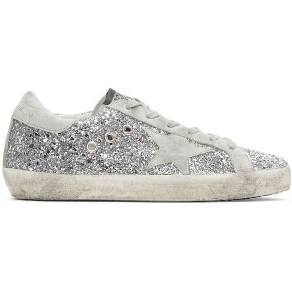 Golden Goose SSENSE Exclusive Silver Glitter Superstar Sneakers clearance sneakernews ebay for sale shopping online free shipping prices 75Dz1s96