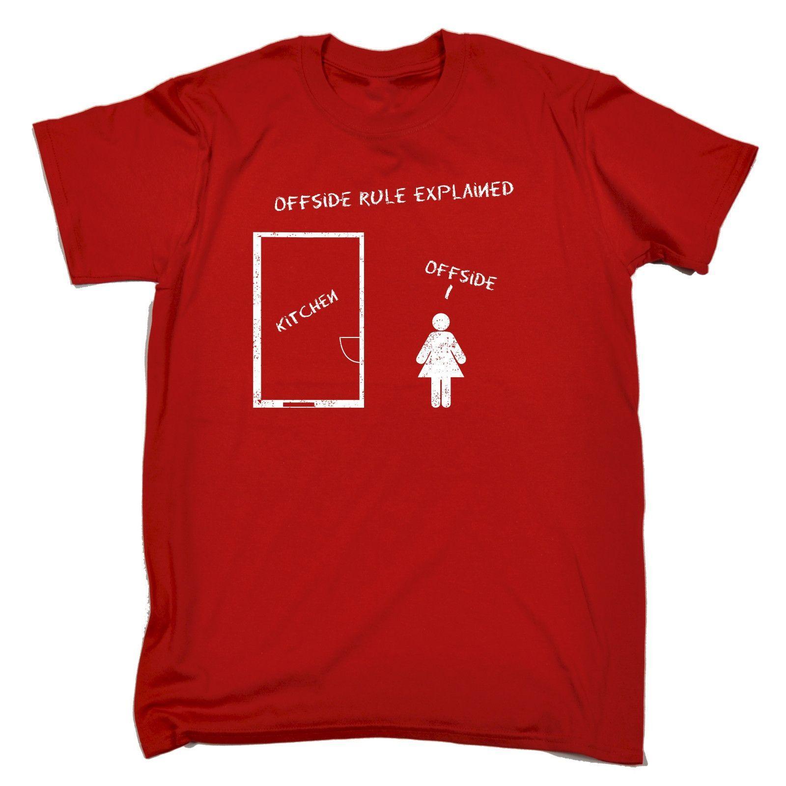 123t USA Men's Offside Rule Explained Kitchen Offside Funny T-Shirt