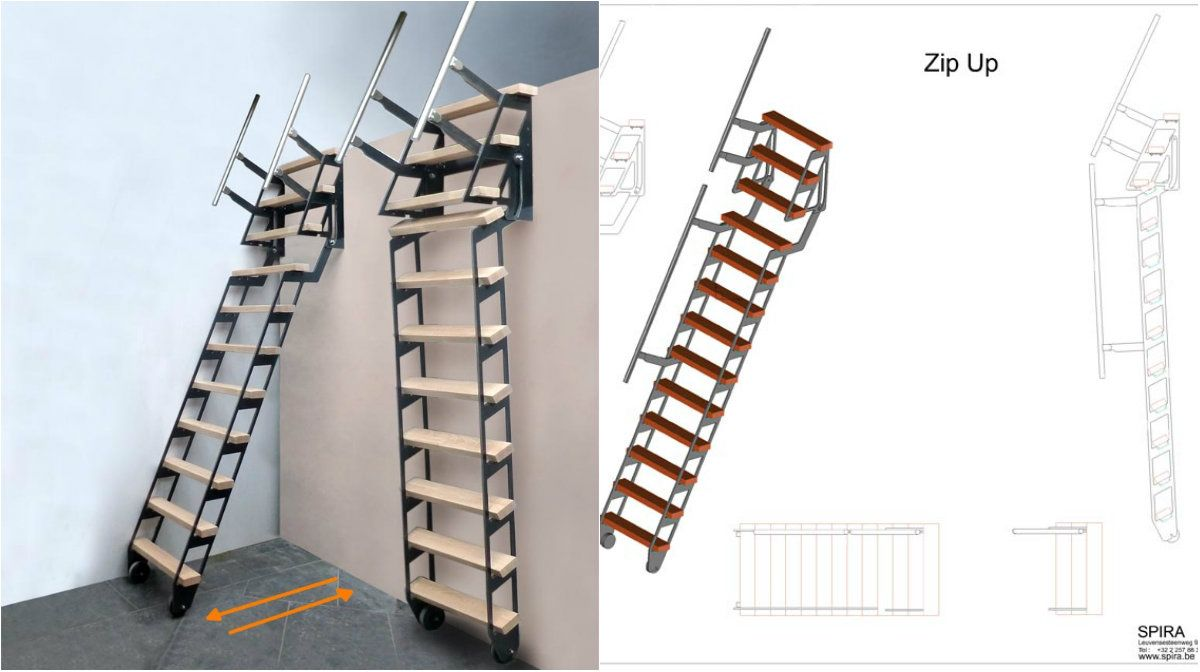 ZIP UP Ladder U2013 Retractable Staircase Great For Every Occasion U2013  Architecture Admirers