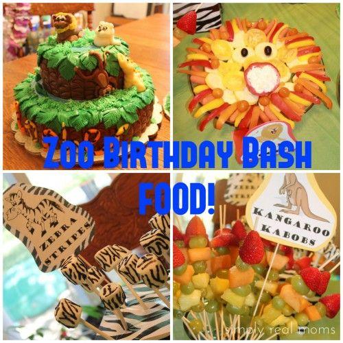 Zoo Birthday Bash Food Zoo birthday Food ideas and Zoos
