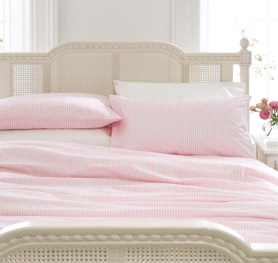 Pink And White Striped Duvet Like Eloise Stripe Bedding Pink Sheets Feminine Bedroom