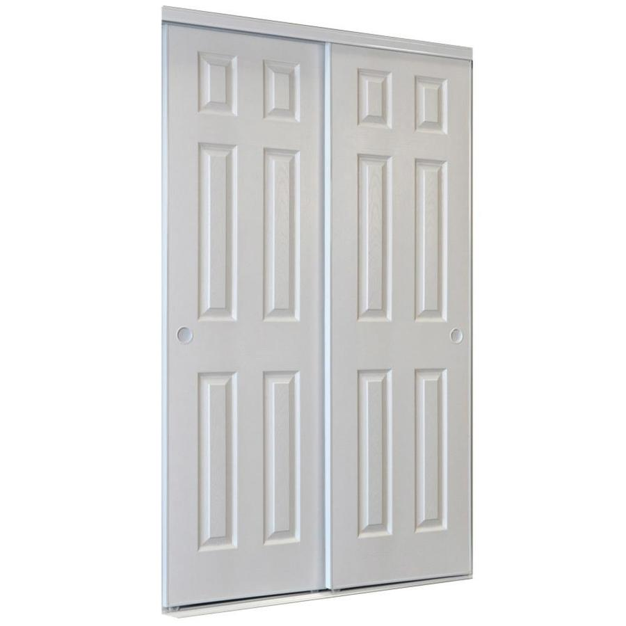 Reliabilt 9205c Series White 6 Panel Steel Sliding Closet Door Hardware Included Common 72 In X 80 In Ac Sliding Closet Doors Closet Door Hardware Reliabilt