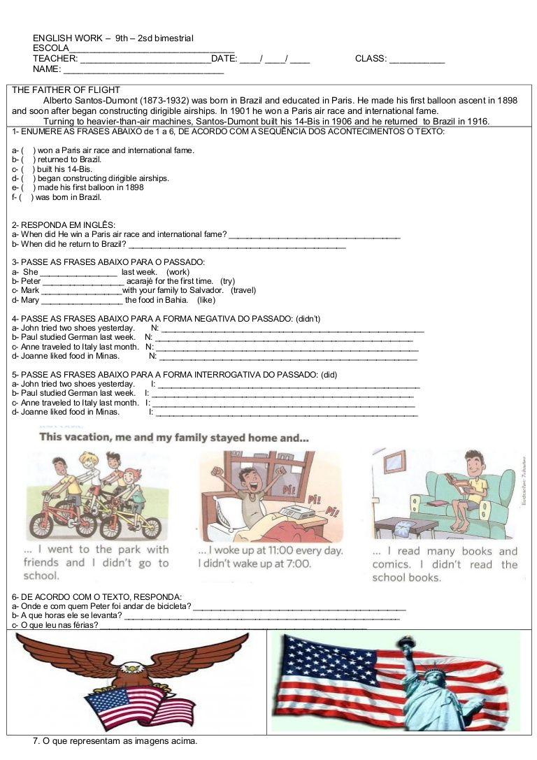 Pin De Trương Em English Com Imagens Prova De Ingles Ingleses