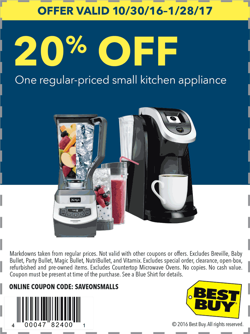 Pinned January 2nd: 20% off a single small kitchen appliance at ...